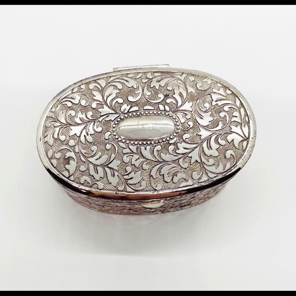 Vintage silver jewellery box